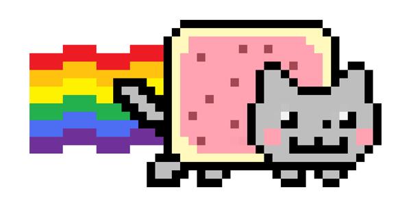 Anime Pixel Cat Box