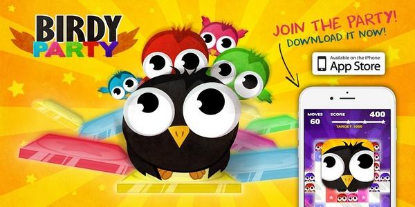 Birdy Party sur iOS : le plus disco des puzzle-games !