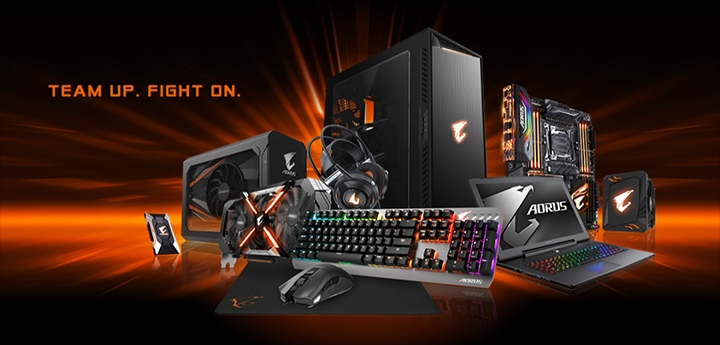 d couvrez les produits aorus la paris games week actualites hightech jeux video cinema. Black Bedroom Furniture Sets. Home Design Ideas