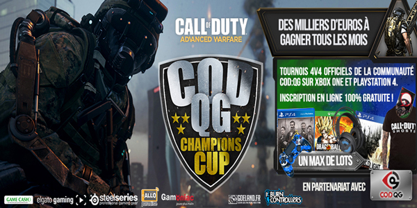 Glory4Gamers – Les tournois COD : QG Champions Cup sur PS4 / Xbox One reprennent !