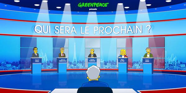 Greenpeace lance une parodie de la campagne présidentielle version Simpsons !
