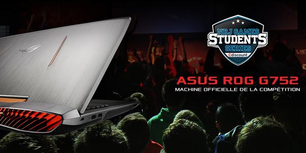 ASUS partenaire hardware des NRJ Games Students Series !