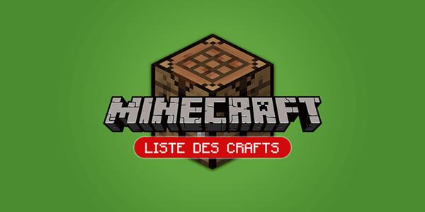 [Infographie] Découvrez les crafts de Minecraft !
