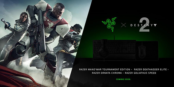 Razer s'associe à Bungie et lance une gamme de produits Destiny 2 !