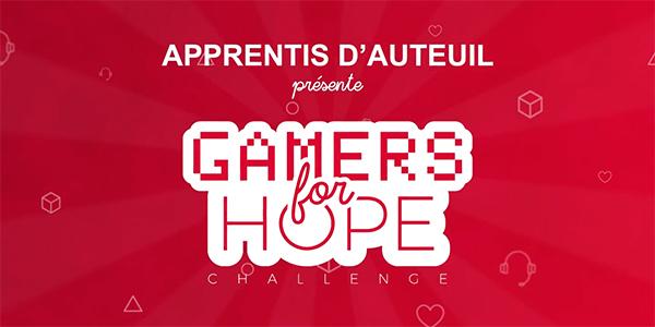 Apprentis d'Auteuil organise le Gamers For Hope Challenge !