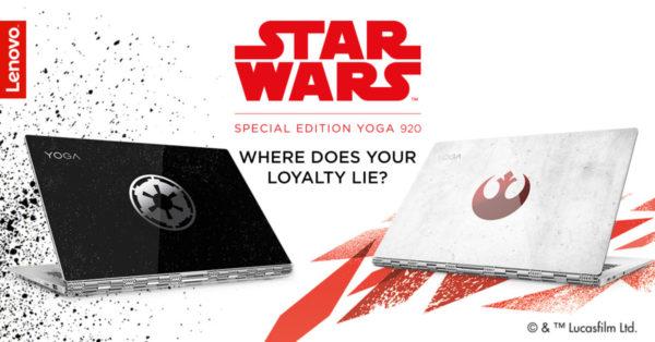Le Yoga 920 Édition Spéciale Star Wars est disponible sur le site de Lenovo !