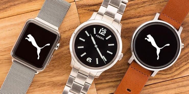 Fossil x Puma montres classiques et connectées