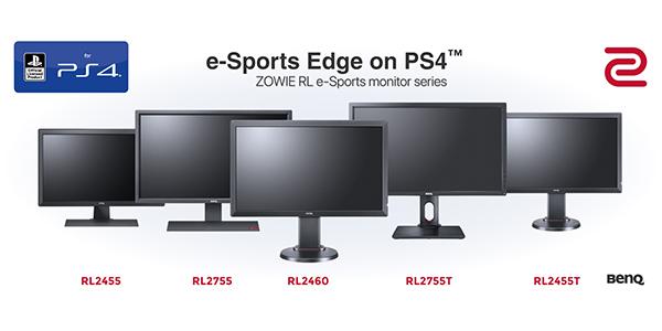 Zowie RL : Des moniteurs e-Sport pour PS4 !