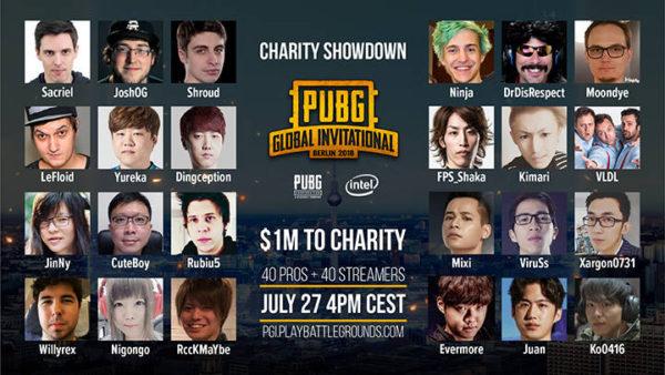 PUBG Corporation annonce le livestream PGI Charity Showdown !