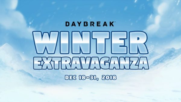 Daybreak Games Winter Noël 2018