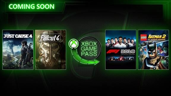 Just Cause 4 et F1 2018 vont intégrer le Xbox Game Pass !