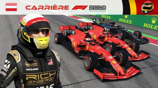 F1 2019 - Carrière #10 : Un nouveau coéquipier