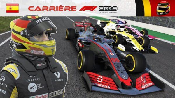 F1 2019 – Carrière S2 #27 : Gros déficit de V-Max ...