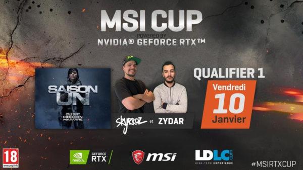 La MSI CUP powered by NVIDIA Geforce RTX présenté par Skyrroz se dévoile