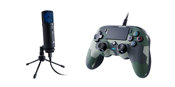 NACON Streaming Microphone x Wired Compact Controller PlayStation 4