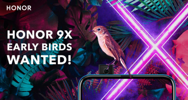 HONOR 9X Pro Early Bird Recruitment