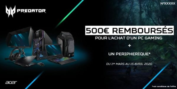 Acer Predator Réduction Mars 2020