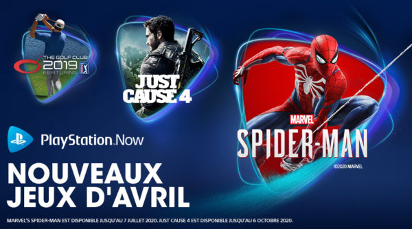 Playstation Now PS Now - Avril 2020