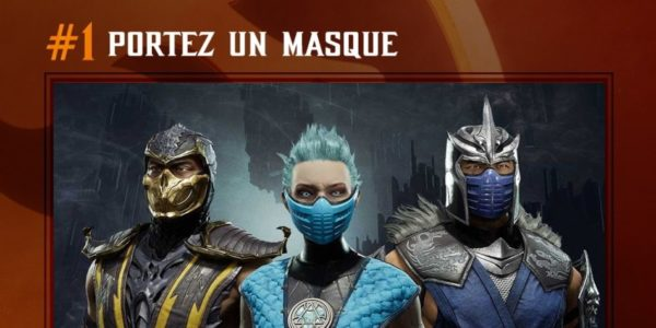 Mortal Kombat 11 : Aftermath x Portez un masque COVD-19