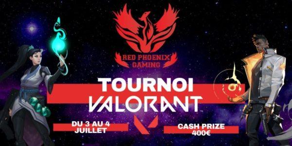 Red Phoenix Gaming annonce un tournoi Valorant avec 400€ de cash prize