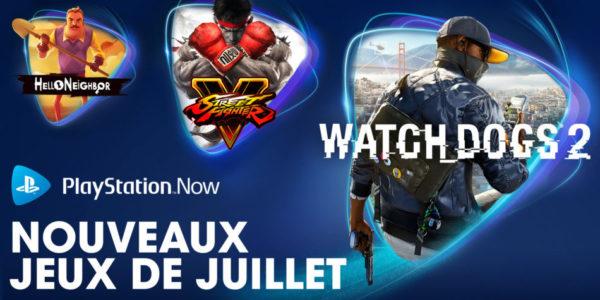 PlayStation Now PS Now - Jeux de juillet 2020