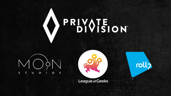 Private Division x Moon Studios, League of Geeks, Roll7
