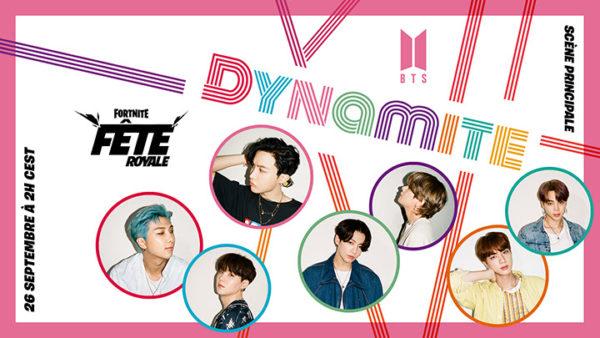 Fortnite Fête Royale x BTS Dynamite