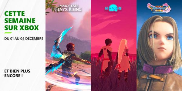 Cette semaine sur Xbox - Les nouveaux jeux du 1er au 4 décembre