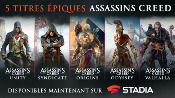 Assassin's Creed x Google Stadia