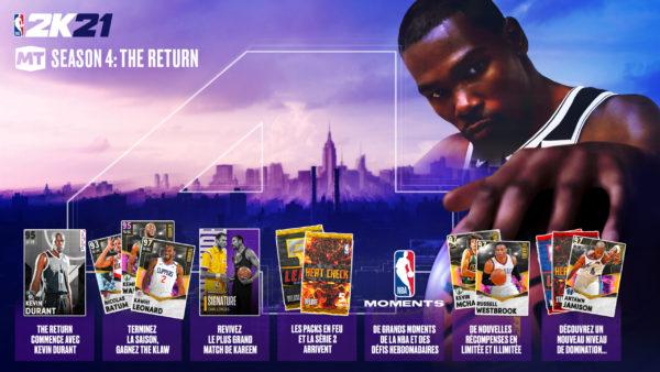 NBA 2K21 – The Return : La Saison 4 - Mon ÉQUIPE