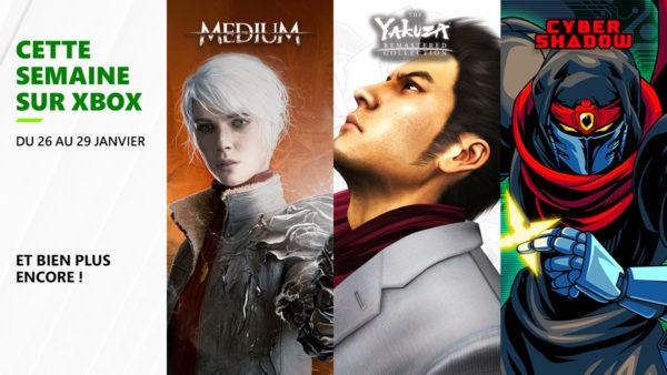 Cette semaine sur Xbox - Les jeux du 26 au 29 janvier