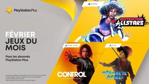 Playstation Plus PS Plus Février 2021