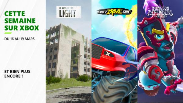Cette semaine sur Xbox - Les jeux du 15 au 19 mars