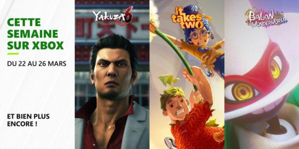 Cette semaine sur Xbox - Les jeux du 23 au 26 mars