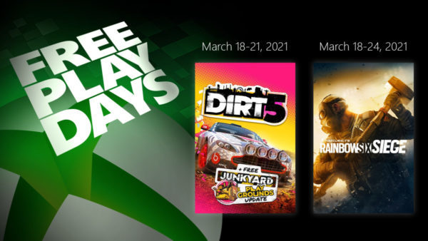 XBOX Free Play Days – Dirt 5 x Tom Clancy's Rainbow Six Siege