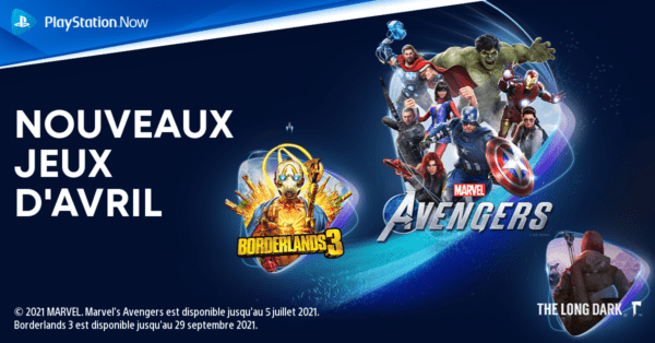 PS Now PlayStation Now - Avril 2021 01