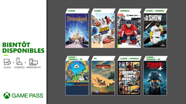 Xbox Game Pass - Avril 2021