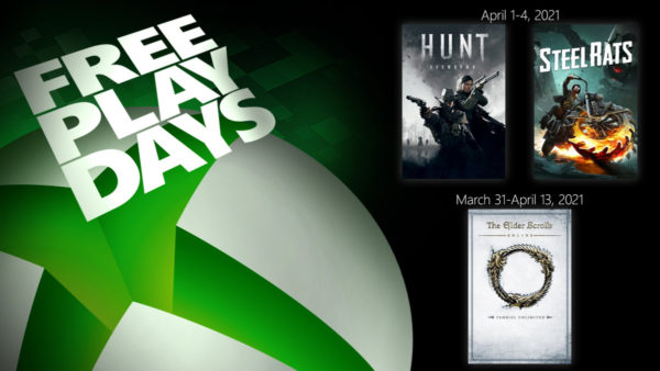 XBOX Free Play Days - The Elder Scrolls Online Tamriel Unlimited - Steel Rats - Hunt: Showdown