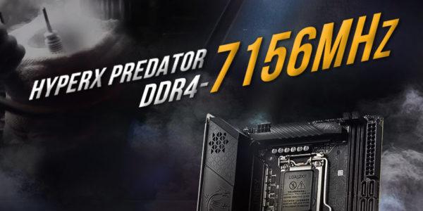 HyperX Predator DDR4 – HyperX établit un record d'overclocking à 7156 MHz