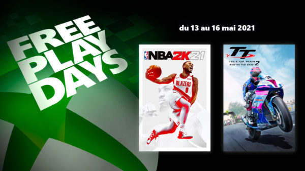 XBOX Free Play Days - Jours de jeu gratuit : NBA 2K21 & TT Isle of Man: Ride on the Edge 2