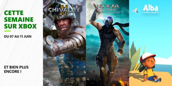 Cette semaine sur Xbox - Les jeux du 7 au 11 juin