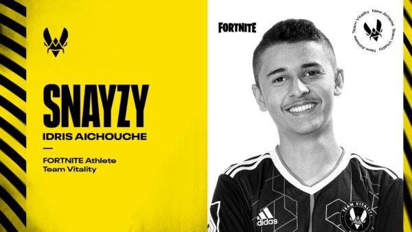 Snayzy - Idris Aichouche - Fortnite - la Team Vitality