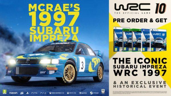 WRC 10 - Subaru Impreza WRC Colin McRae