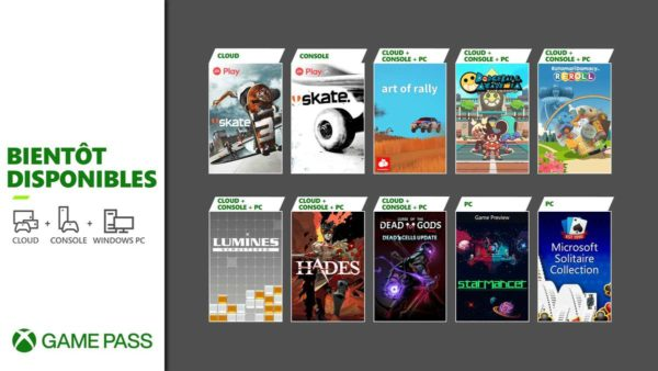 Xbox Game Pass : Hades, Skate, Curse of the Dead Gods