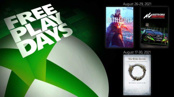 XBOX Free Play Days – Battlefield V, Assetto Corsa Competizione & The Elder Scrolls Online: Tamriel Unlimited