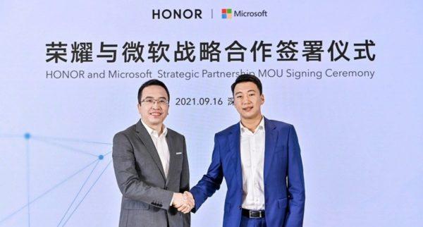 HONOR partenariat stratégique Microsoft