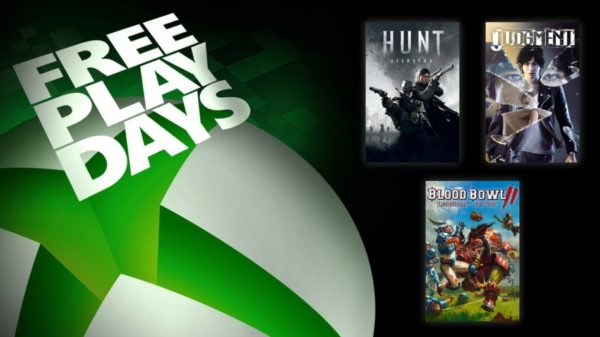 XBOX Free Play Days – Hunt: Showdown, Judgment & Blood Bowl 2: Legendary Edition
