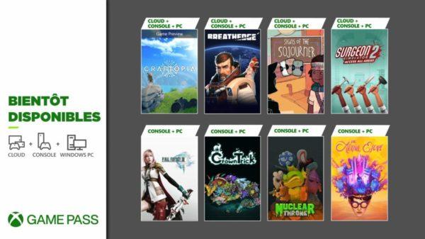 Xbox Game Pass : Final Fantasy XIII, The Artful Escape