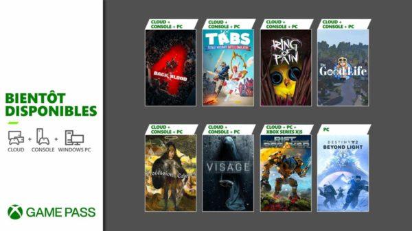 Xbox Game Pass - Octobre 2021