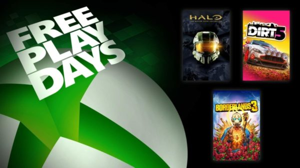 XBOX Free Play Days – Halo: The Master Chief Collection, Borderlands 3 & Dirt 5
